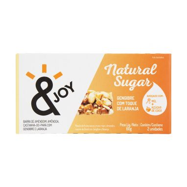 Barra natural gengibre com laranja & Joy 2x30g