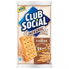 Biscoito Club Social integral 5 cereais 144g.