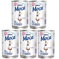Leite condensado Moça Nestlé lata 395g. (pacote c/ 5 unid.)