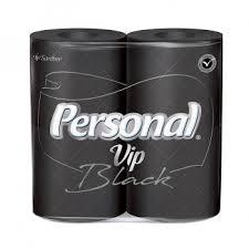 Papel higiênico folha dupla Black Personal Vip 4x1