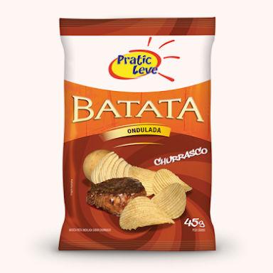 Batata ondulada sabor churrasco Pratic Leve 45g
