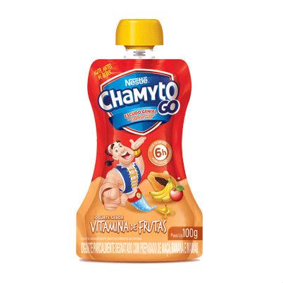 Iogurte líquido sabor vitamina de frutas Chamyto Go Nestlé 100g