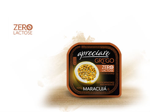 Iogurte grego zero lactose sabor maracujá Apreciare 100g