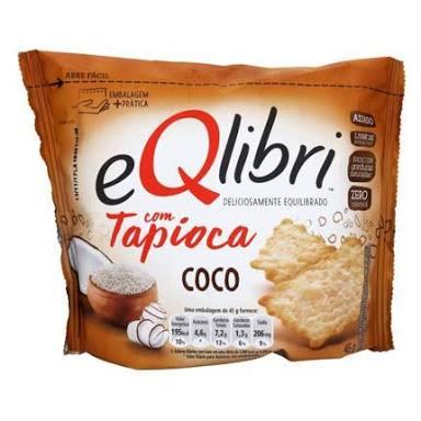 Biscoito tapioca c/ coco Eqlibri 45g