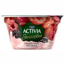 Leite Fermentado Activia Sensações Pedaços frutas silvestre 120g