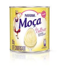 Leite condensado Moça colher lata Nestlé 395g