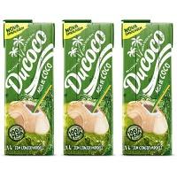 Água de coco Ducoco 1lt. (pacote c/ 3 unid.)