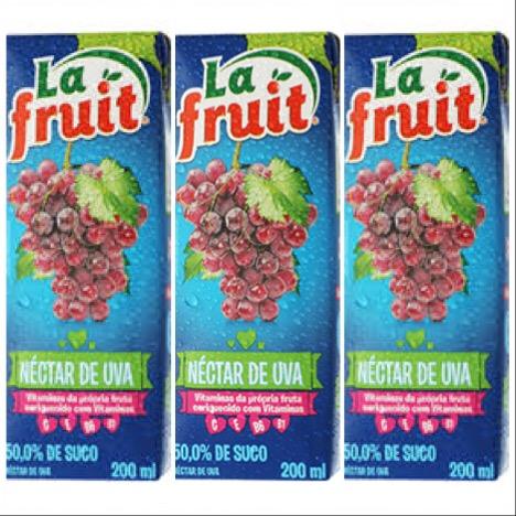 Suco pronto de uva La Fruit 1lt. ( pacote c/ 3 unid.)