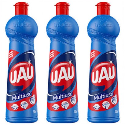 Limpador Multiuso Uau lavanda Ingleza 500ml. ( pacote c/ 3 unid.)