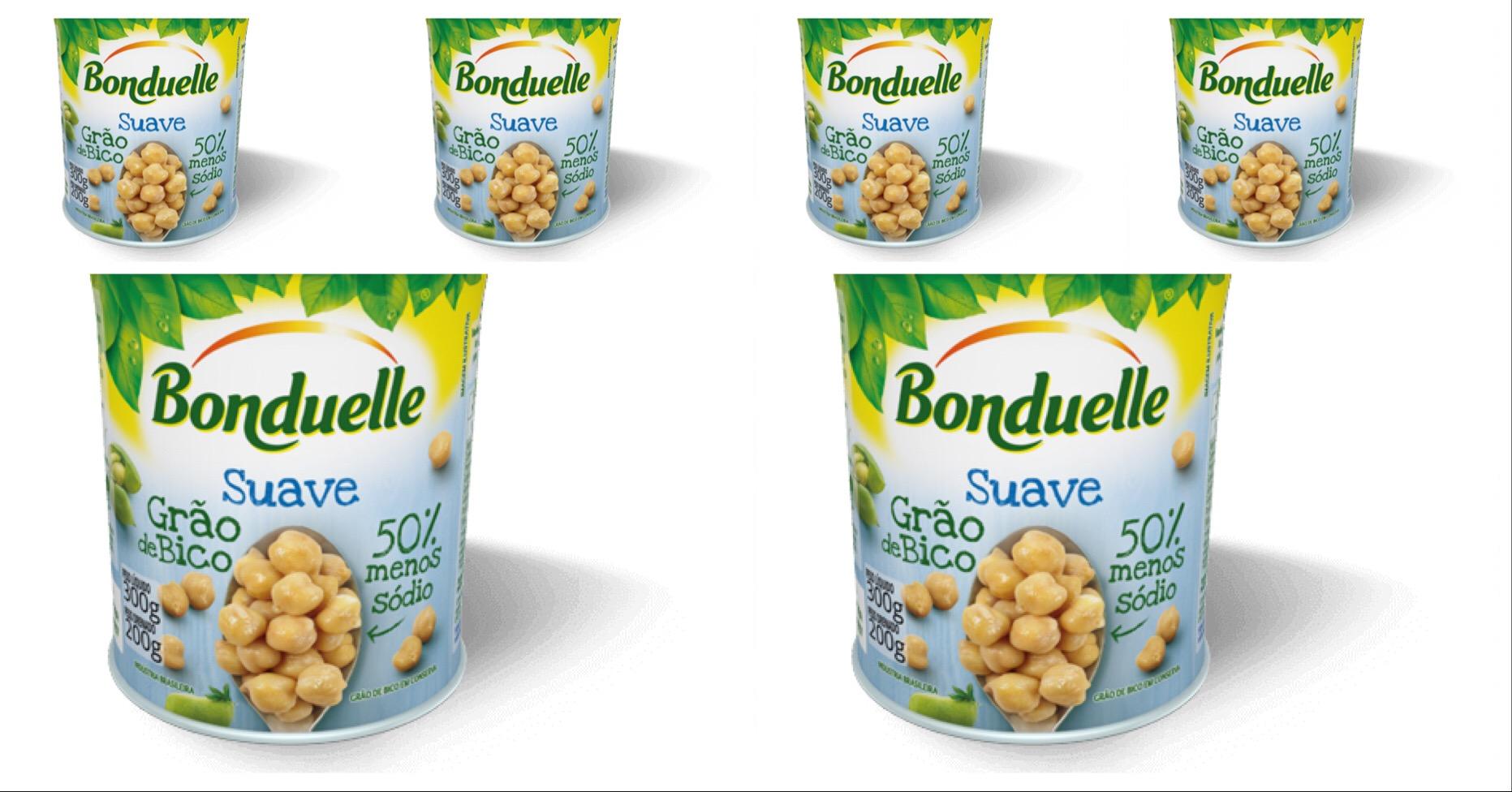 Grão de bico suave Bonduelle 200g  ( pacote c/ 6 unid.)