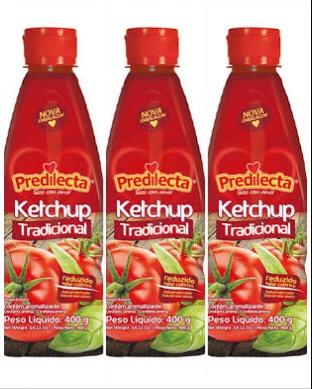 Ketchup tradicional Predilecta 400g (pacote c/ 3 unid.)