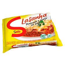 Lasanha presunto e queijo ao sugo Sadia 600g