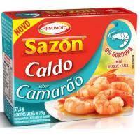 Caldo em pó camarão Sazon 37g