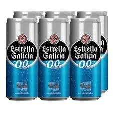 Cerveja Estrella Galicia zero alcool 330ml (pacote c/ 6 unid.)