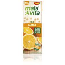 Bebida a base de soja sabor laranja Mais Vita Yoki  1lt.
