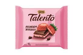 Chocolate ao leite recheado com morango Talento 90g