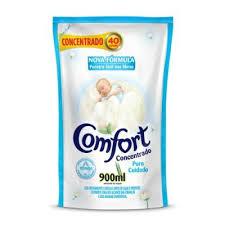 Amaciante comfort concentrado sachê puro cuidado 900 ml