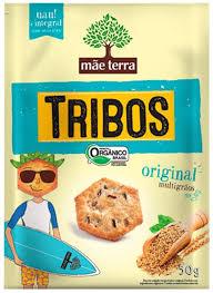 Biscoito salgado Orgânico original TrIbos Mãe Terra 50g