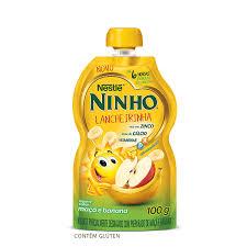 Iogurte Ninho (lancheirinha) sabor maçã c/ banana Nestlé 100g