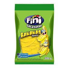 Bala de gelatinas sabor bananas Fini 100g