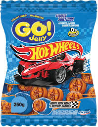 Bala gelatina Hot Wheels Go Jelly 80g