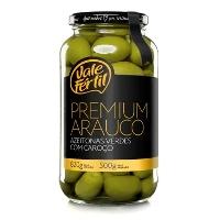 Azeitona verde premium c/ caroço Vale Fértil 500g