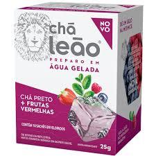 Chá preto + frutas vermelhas p/ preparo em água gelada Leão 25g