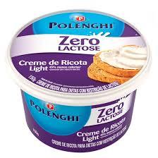 Creme de ricota light zero lactose Polenghi 150g