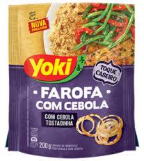 Farofa c/ cebola tostadinha Yoki 200g