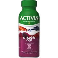 Smoothies probióticos Actvia sabor pitaya, framboesa, mirtilo e cramberry Danone 250g