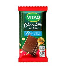 Chocolate ao leite com cereais zero açúcar Vitao 30g