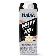 Bebida láctea Whey 25g Protein zero lactose sabor chocolate Italac  250ml