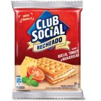 Biscoito Club Social recheado queijo tomate e manjericão 106g.