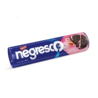 Biscoito recheado Negresco sorvete de morango Nestlé 140g