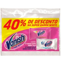 Vanish super barra pink 75g + white 75g