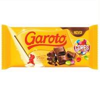 Chocolate ao leite com confeitos Garoto Cores 100g