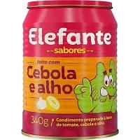Extrato de tomate cebola e alho Elefante 340g