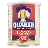 Aveia em flocos Quaker lata 450g.