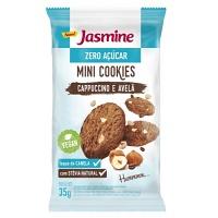 Mini cookies zero açúcar cappucino e avelã Jasmine 35g