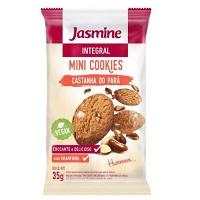 Mini cookies integrais castanha do Pará Jasmine 35g
