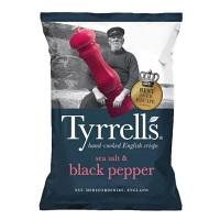 Batata sabor pimenta do reino Tyrrell's 150g
