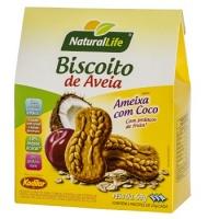Biscoito de aveia sabor ameixa com coco Natural Life 69g