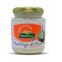 Manteiga de coco sabor manteiga sem glúten Natural Life 210g