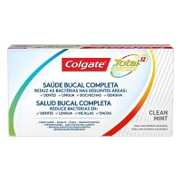 Kit creme dental Colgate Total 12 clean mint 90g (2 unidades)
