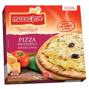 Pizza  de mussarela congelada Massa Leve 400g