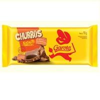 Chocolate branco ao leite com flocos caramelizados sabor churros Garoto 90g