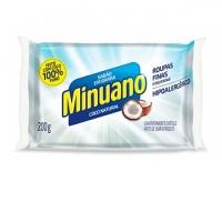 Sabão em barra puro coco Minuano 200g