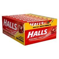 Halls de morango caixa com 21 unidades