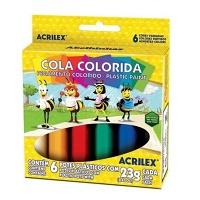 Cola colorida Acrilex (6 unidades)