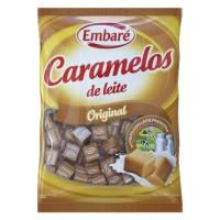 Bala caramelo de leite sabor baunilha Embaré pacote com 660g